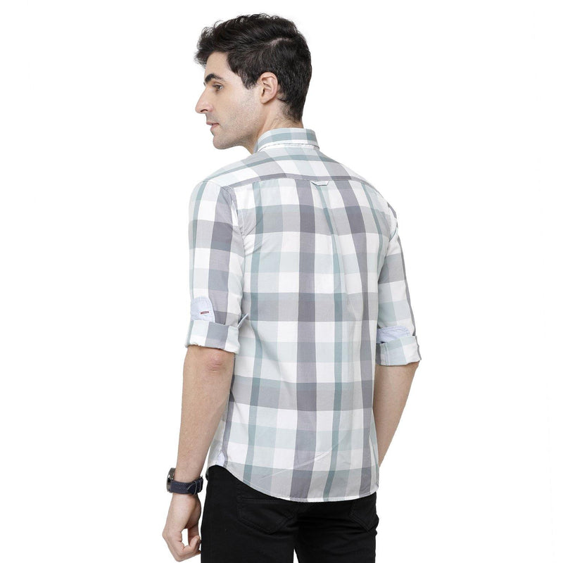 Casual Green Checked Shirt - Doubletwoindia