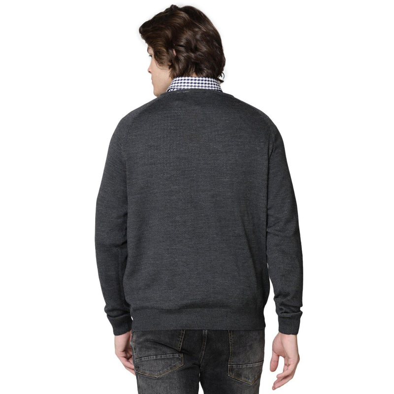 Double Two Wool Blend Grey Sweater - Doubletwoindia