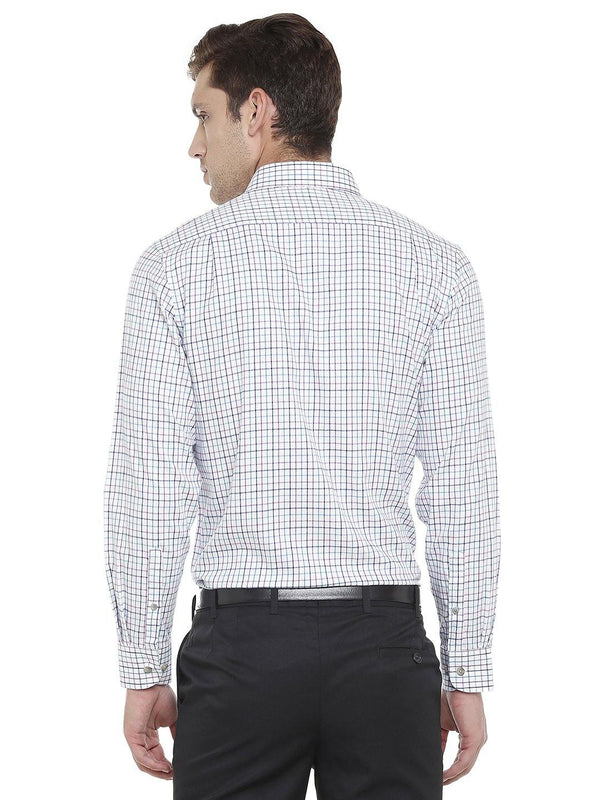 Formal Multicolored checked shirt - Doubletwoindia
