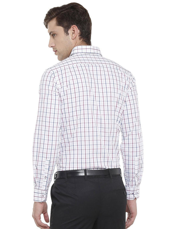 Formal Multicolored checked shirt