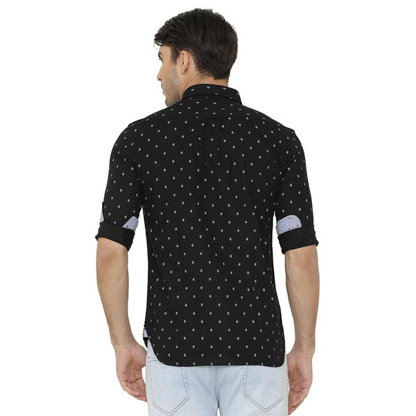 Casual Black Printed Shirt