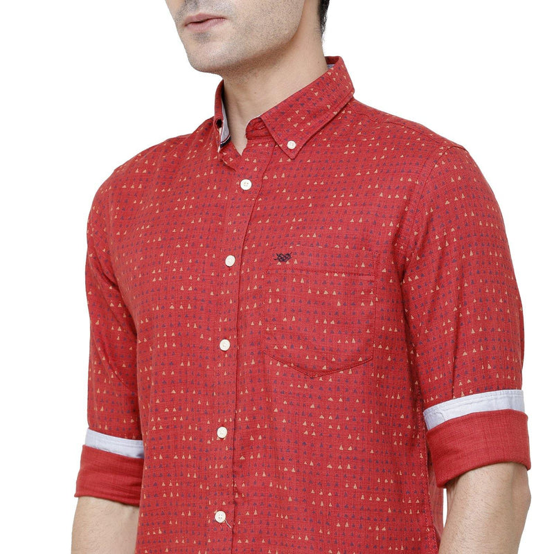 Casual Red Printed Shirt - Doubletwoindia