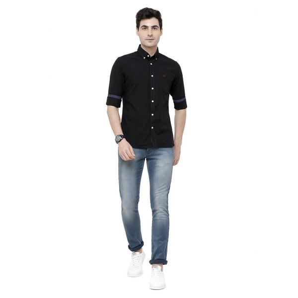 Casual Black Plain Shirt