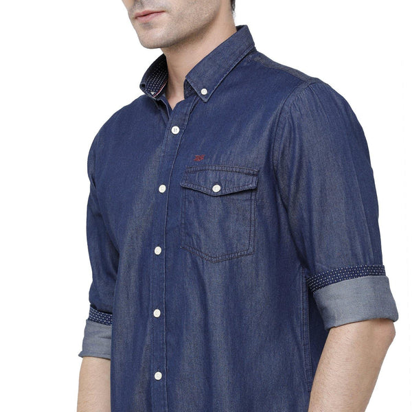 Casual Blue Denim Shirt