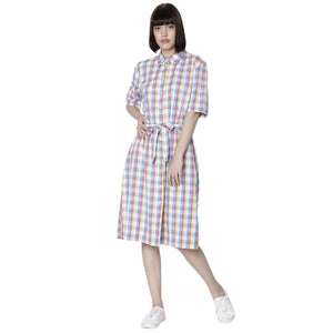 Double TWO Lemon Check Dress