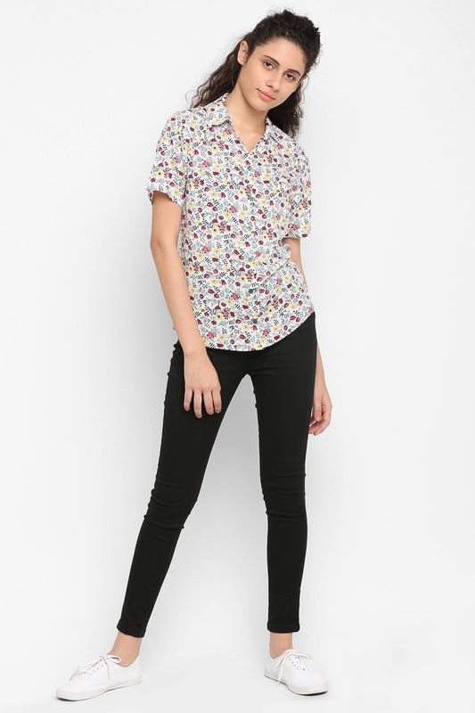 DoubleTwo Women€™s Multi-Color Regular Fit Top