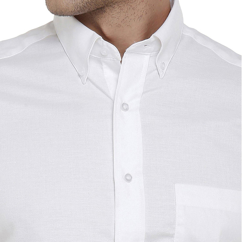 Formal White Plain Shirt - Doubletwoindia