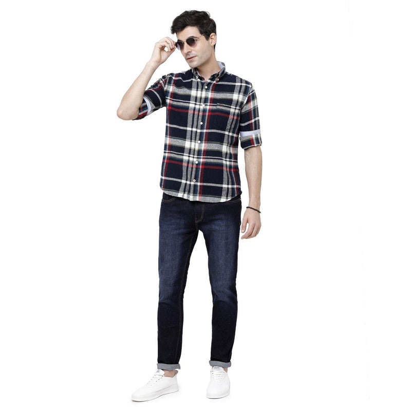 Casual Multicolored Flannel Checked Shirt - Doubletwoindia