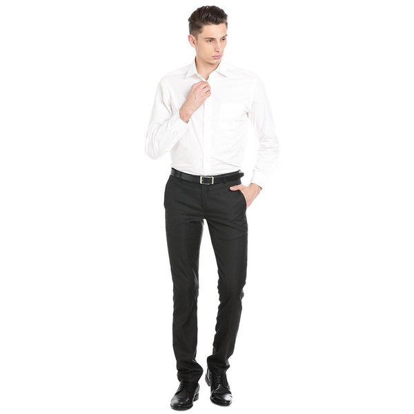 Luxury Pure Cotton Non-Iron Formal White Plain Shirt