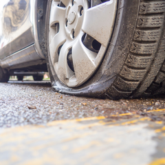 causes of flat car tyre