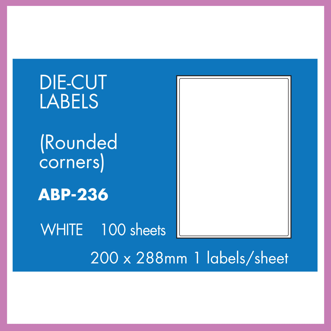 Hovat Multi-Purpose. 100 sheet box of white self adhesive labels