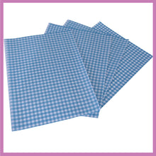 Load image into Gallery viewer, Blue Gingham Greaseproof Sheets, Chip & Tray Liners. packs of 1,000