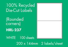 Load image into Gallery viewer, Hovat 100% Recycled Multi-Purpose. Self Adhesive Labels. (100 Sheets per box)