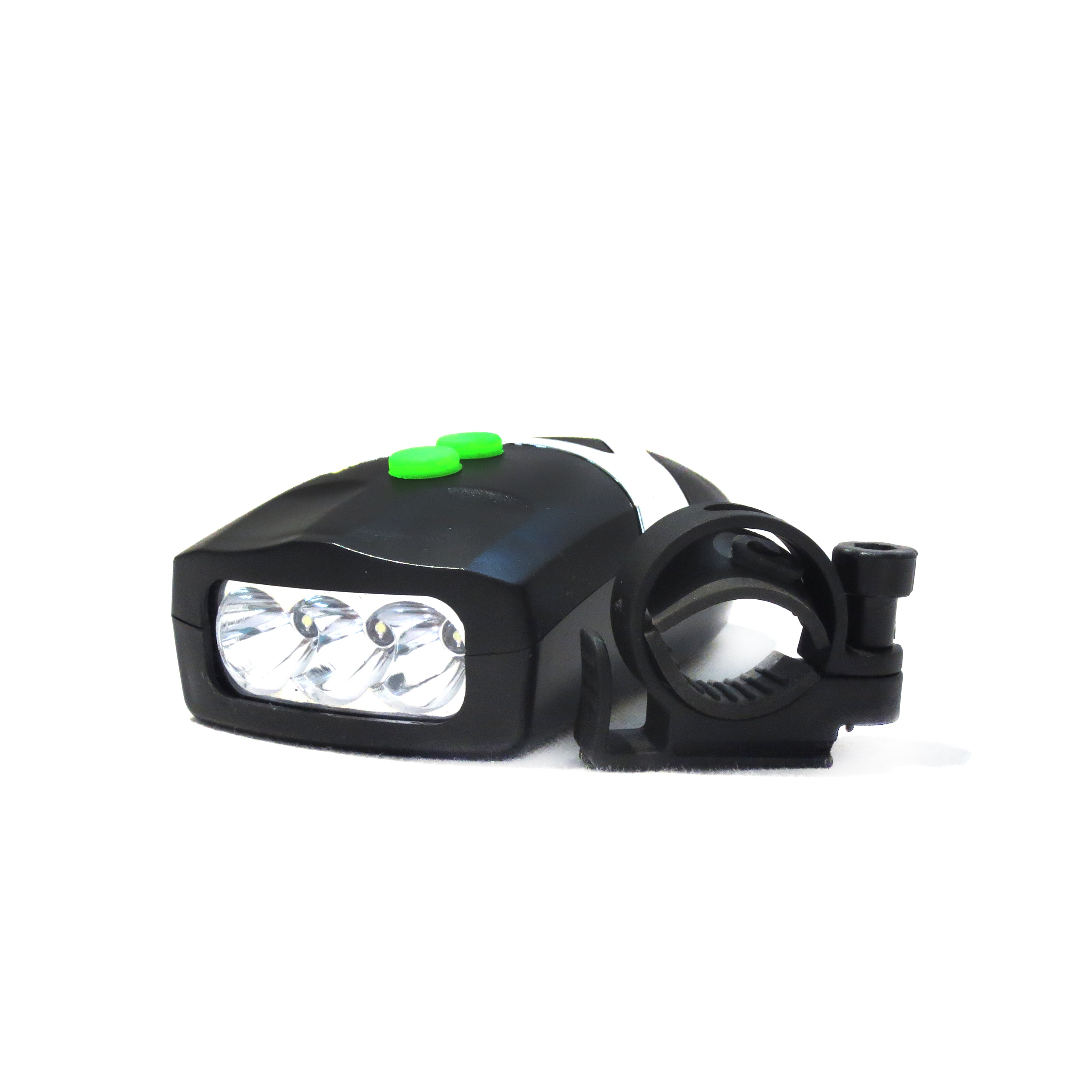 Leader Bicycle  Bell with 3-LED Front Head Light (Black Color)