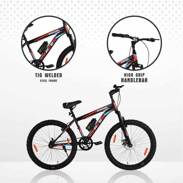 Spartan 26T x 300 Fat Tyre Cycle with Front Suspension & Disc Brake
