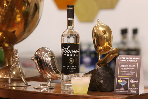 Success Vodka provided mixed drinks for guests to enjoy during the art show.