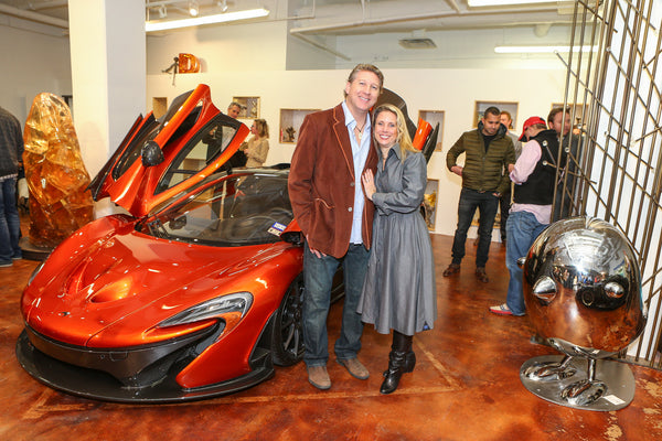 Brad Oldham and Christy Coltrin at the McLaren Event