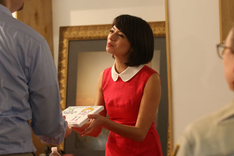 Artist Kate Micucci hand signed each artwork that sold during the event.