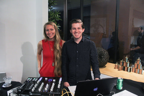Sierra Sintic (left) coordinated the food for the art show and DJ Blake Ward provided the energetic tunes.