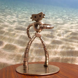 The Traveling Man 12-inch-tall edition, satin nickel on brass