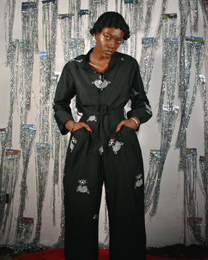 Black Biret Jumpsuit