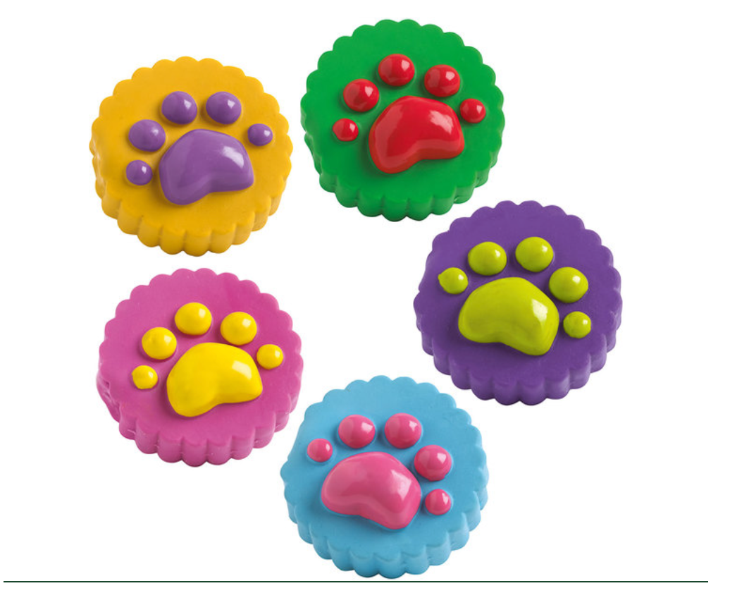 Paw Biscuit Latex Toy by Hunter
