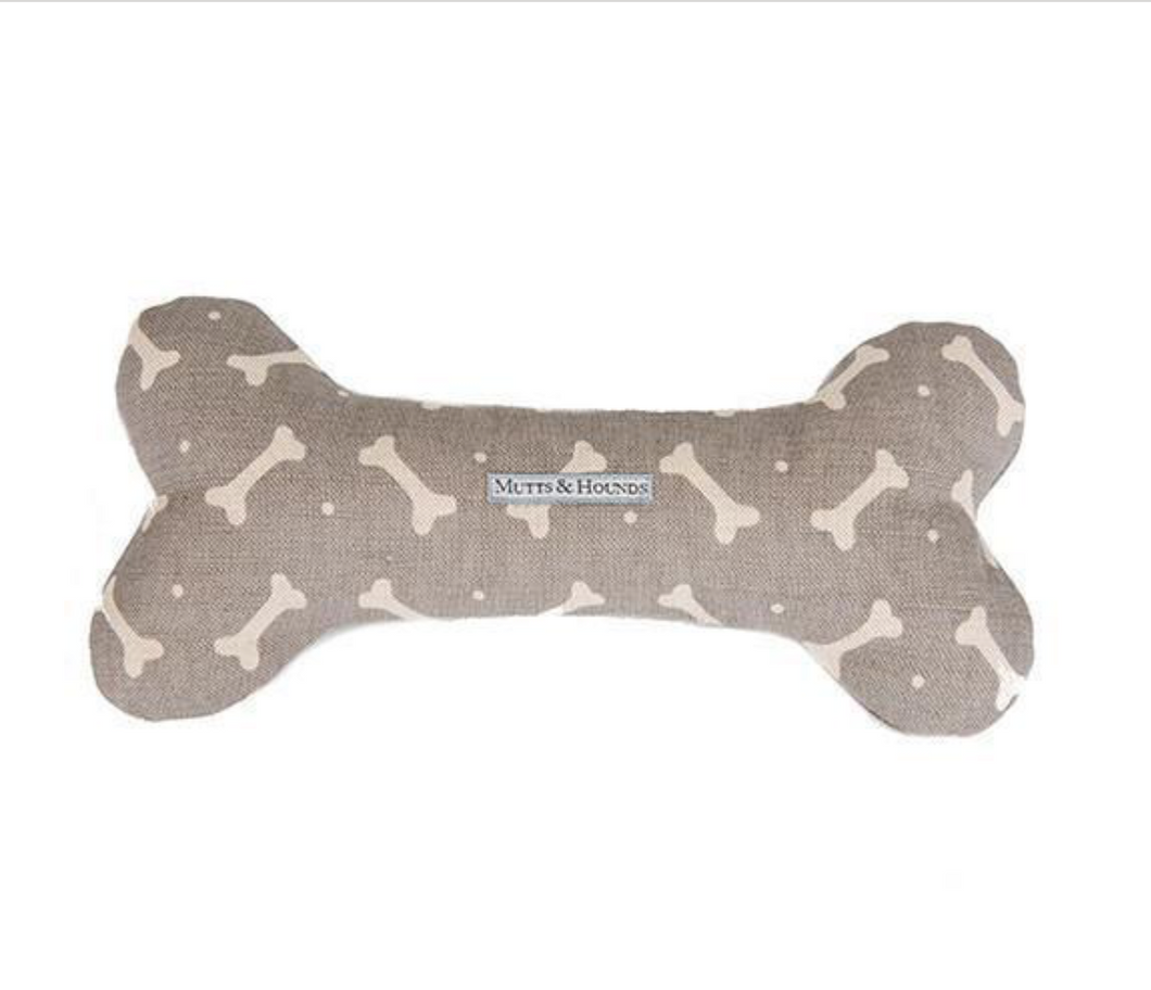Squeaky Bone toy by Mutts & Hounds: Mushroom