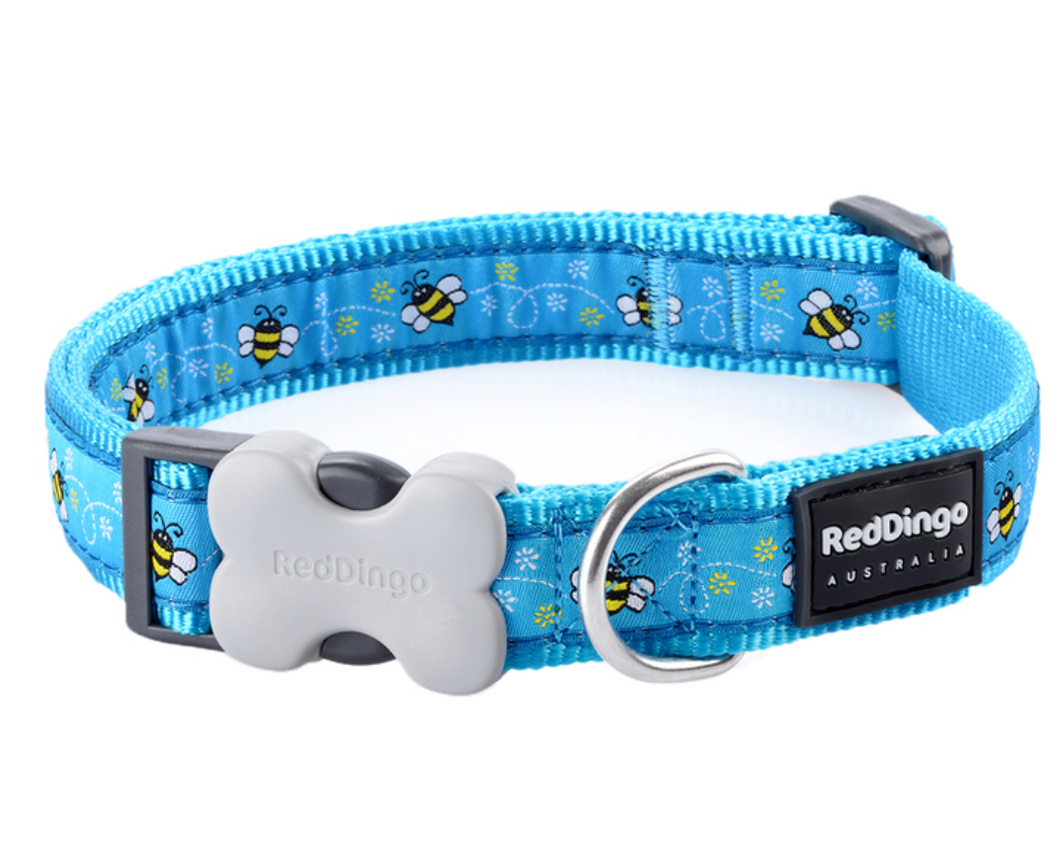 Bumble Bee collar by Red Dingo: Turquoise