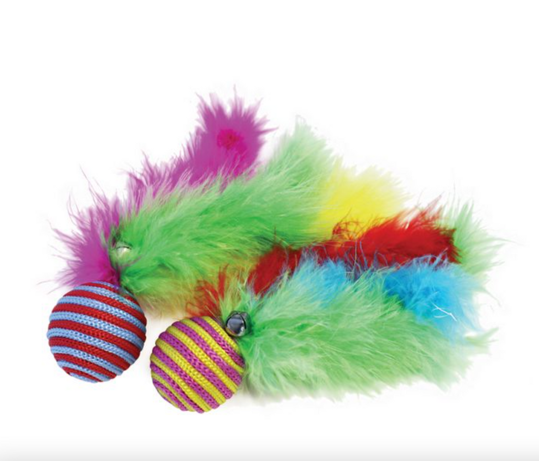 Carnival Ball Cat Toy: 2 pack