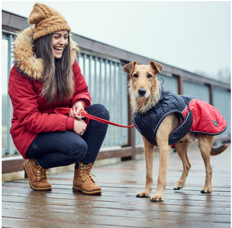 Uppsala Cozy Winter Dog Coat by Hunter: Red