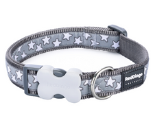 Load image into Gallery viewer, Grey & White Stars Collar by Red Dingo
