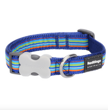 Load image into Gallery viewer, Stripe Dog Collar by Red Dingo: Navy Dark Blue