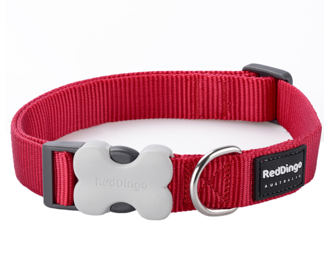 Classic Dog Collar by Red Dingo: Red