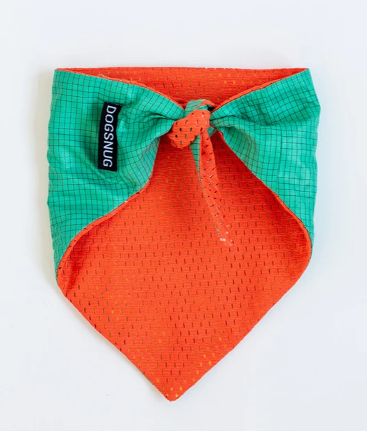 Cooling Bandana: Orange and Teal by Dogsnug