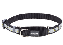 Load image into Gallery viewer, Red Dingo Bumble Bee Martingale Dog Collar: Black