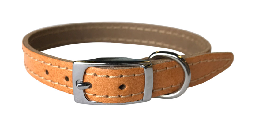 Tan Leather Dog Collar