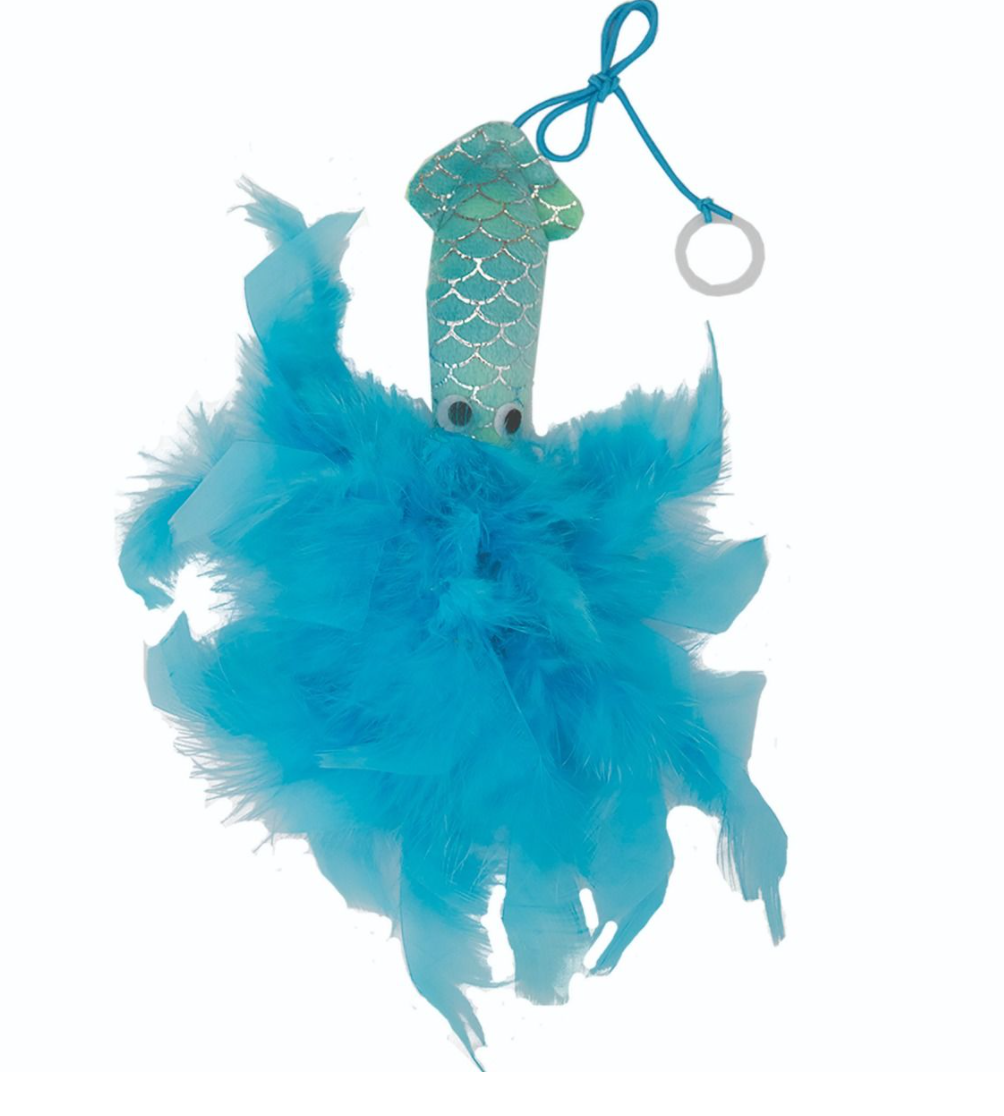 Mermaid Squid Cat Toy: 2 Colours