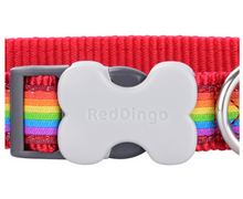 Load image into Gallery viewer, Red Dingo Rainbow Dog Collar