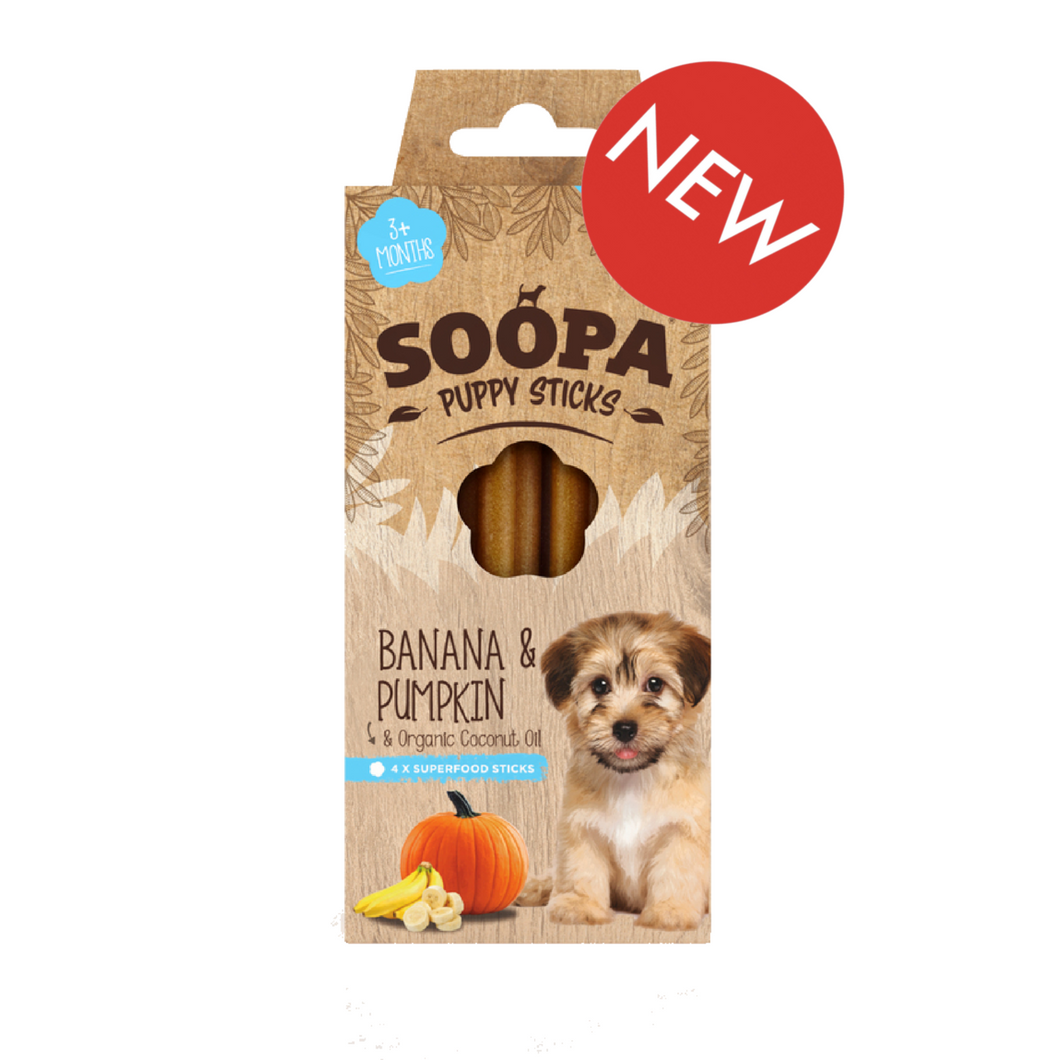 Puppy Banana & Pumpkin Dental Stick by Soopa