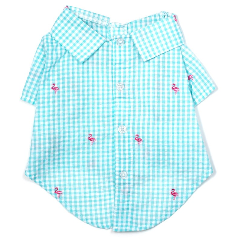 Gingham Flamingo Shirt