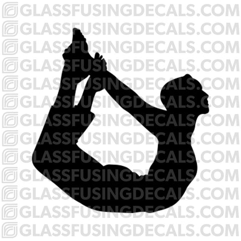 Yoga 4- Bow Pose- Glass Fusing Decal for Glass or Ceramics