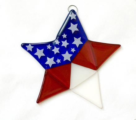 Celebration Star Glass Fusing Pattern