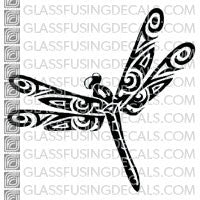 Dragonfly - Tribal Design Medium 4x4""
