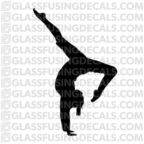 Yoga 2- Handstand 1- Glass Fusing Decal for Glass or Ceramics