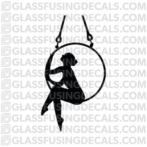Aerials - Hoop/Lyra 9 - Glass Fusing Decal for Glass or Ceramics