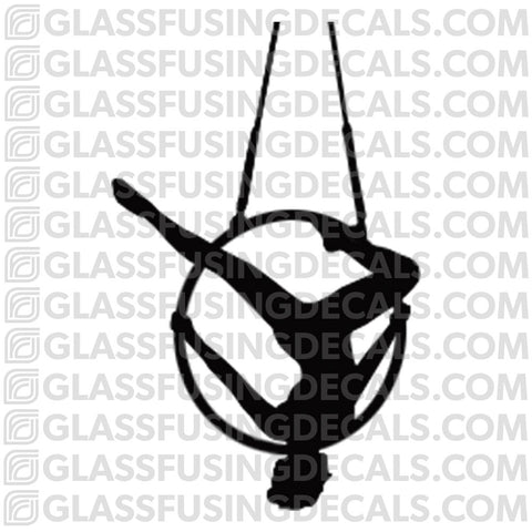 Aerials - Hoop/Lyra 1 - Glass Fusing Decal for Glass or Ceramics