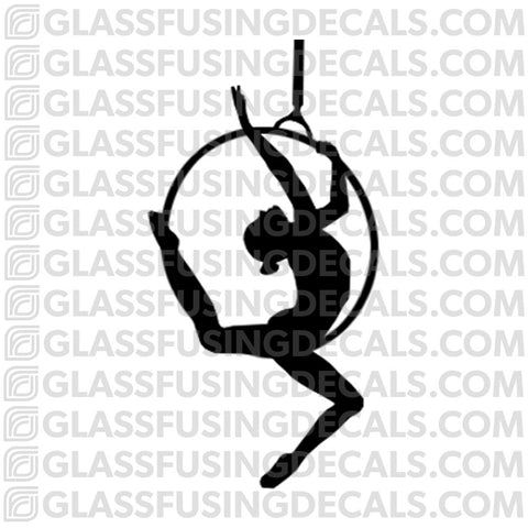 Aerials - Hoop/Lyra 2 - Glass Fusing Decal for Glass or Ceramics