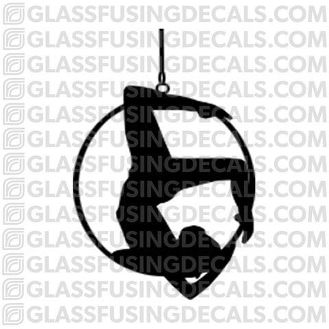 Aerials - Hoop/Lyra 5 - Glass Fusing Decal for Glass or Ceramics