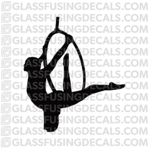 Aerials - Hoop/Lyra 6 - Glass Fusing Decal for Glass or Ceramics