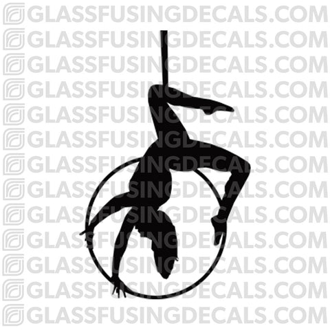 Aerials - Hoop/Lyra 7 - Glass Fusing Decal for Glass or Ceramics